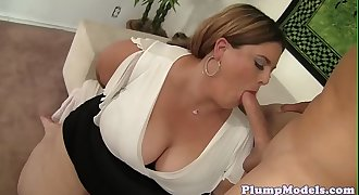 Lovely ssbbw dicksucking before doggystyle