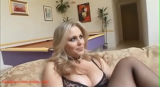 Bblond mom milf cogar pussy ruined by monster black cock